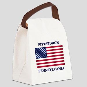 Pittsburgh Pennsylvania Canvas Lunch Bag