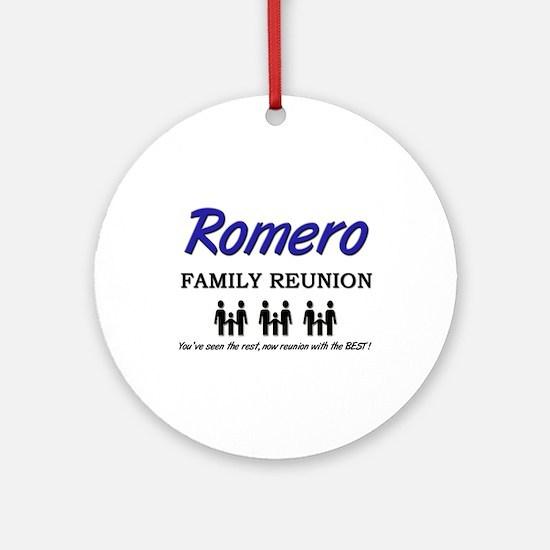 Romero Family Reunion Ornament (Round)