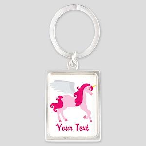 Cute Pink Flying Unicorn Keychains