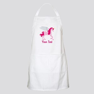 Cute Pink Flying Unicorn Apron
