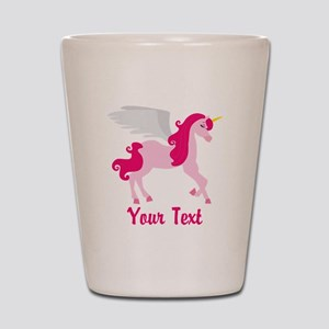 Cute Pink Flying Unicorn Shot Glass