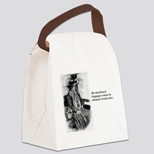 Emotional Baggage Lady Canvas Lunch Bag