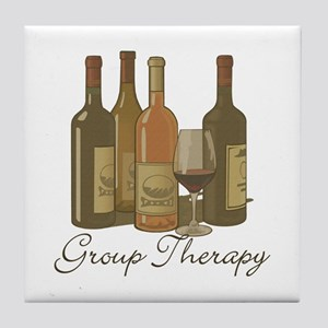 Wine Group Therapy 1 Tile Coaster