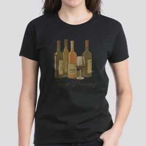 Wine Group Therapy 1 Women's Dark T-Shirt