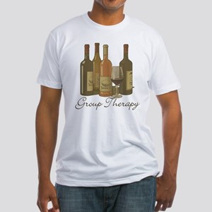Wine Group Therapy 1 Fitted T-Shirt