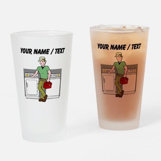 Repairman (Custom) Drinking Glass