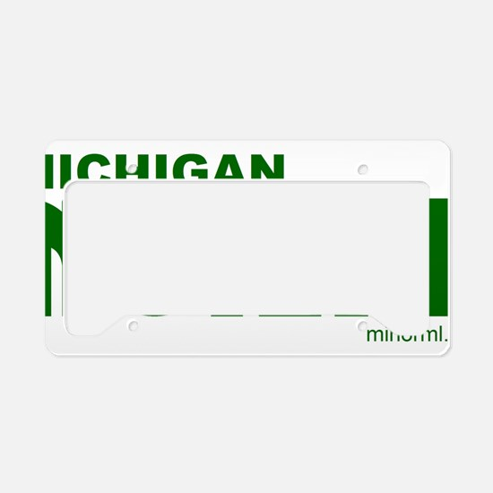 MINORML Logo Green with Michi License Plate Holder