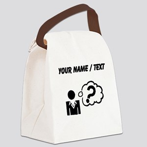 Custom Confused Canvas Lunch Bag