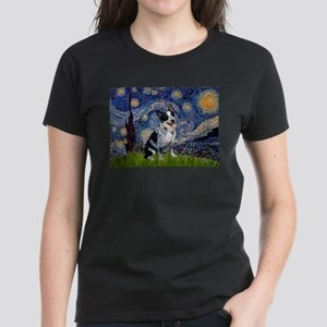 Starry Night Aussie Cattle Dog Women's Dark T-Shir