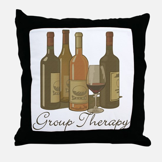 Wine Group Therapy 1 Throw Pillow