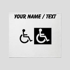 Custom Handicapped Throw Blanket