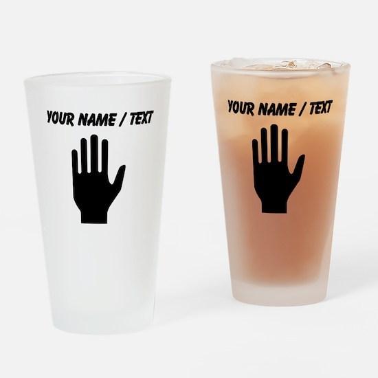 Custom Hand Drinking Glass