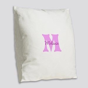 CUSTOM First Initial and Name Burlap Throw Pillow