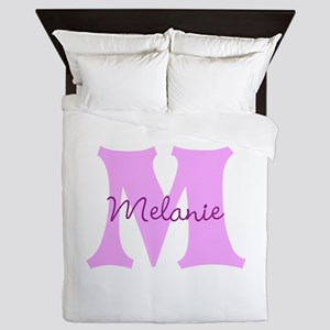 CUSTOM First Initial and Name Queen Duvet