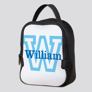 CUSTOM First Initial and Name Neoprene Lunch Bag