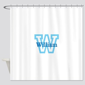 CUSTOM First Initial and Name Shower Curtain