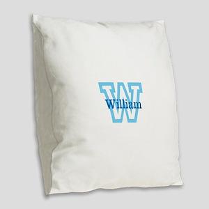 CUSTOM First Initial and Name Burlap Throw Pillow