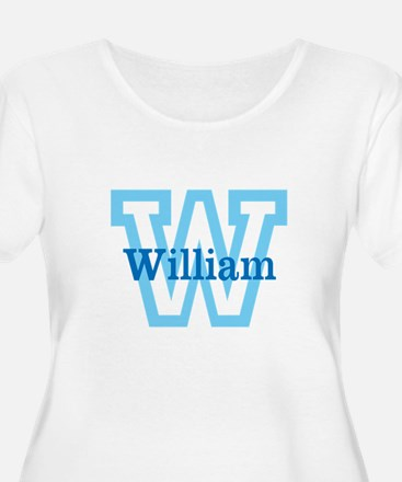 CUSTOM First Initial and Name Plus Size T-Shirt