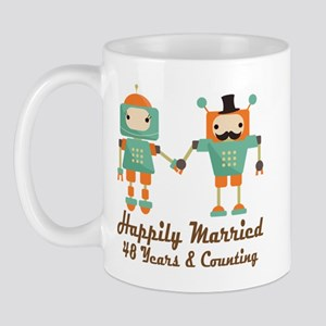 48th Anniversary Vintage Robot Couple Mug