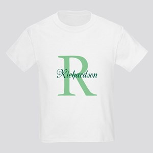 CUSTOM Initial and Name Green Kids Light T-Shirt