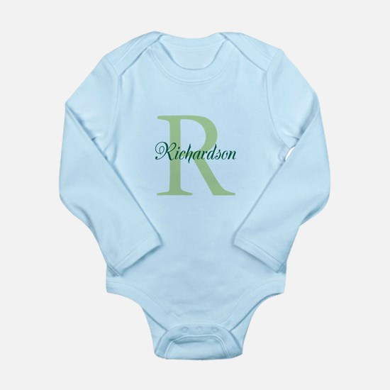 CUSTOM Initial and Nam Long Sleeve Infant Bodysuit