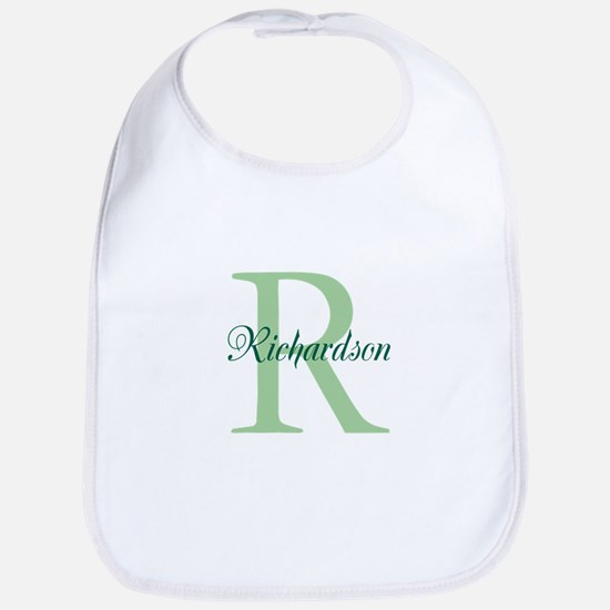 CUSTOM Initial and Name Green Bib