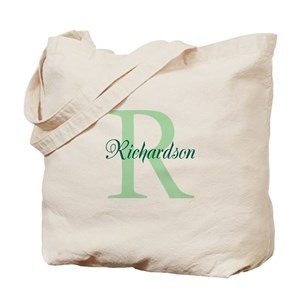 initial canvas tote bags cafepress