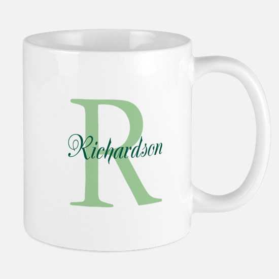 CUSTOM Initial and Name Green Mug