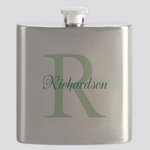 CUSTOM Initial and Name Green Flask