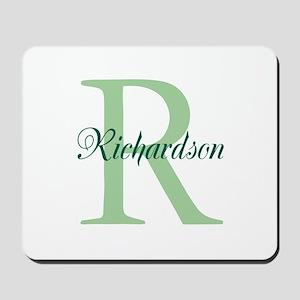 CUSTOM Initial and Name Green Mousepad