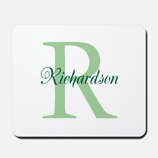 CUSTOM Initial and Name Green Mousepad