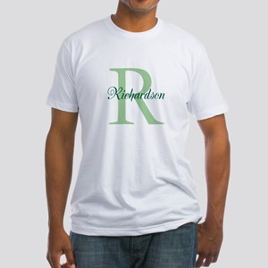 CUSTOM Initial and Name Green Fitted T-Shirt