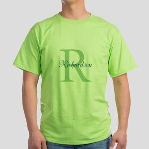 CUSTOM Initial and Name Green Green T-Shirt