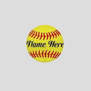 Personalized Softball Mini Button (100 pack)