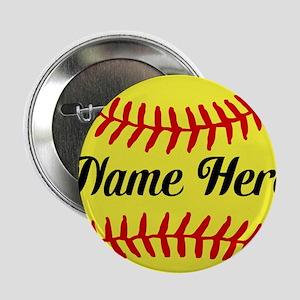 "Personalized Softball 2.25"" Button"