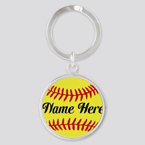 Personalized Softball Keychains