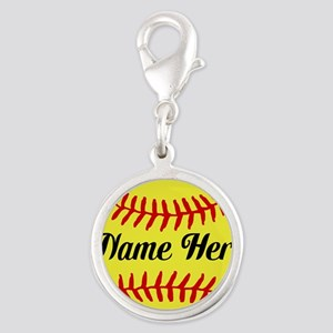 Personalized Softball Charms