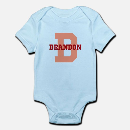 CUSTOM Initial and Name Red Infant Bodysuit