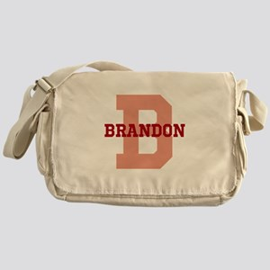 CUSTOM Initial and Name Red Messenger Bag