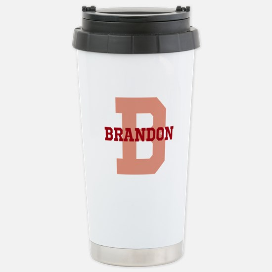 CUSTOM Initial and Name Stainless Steel Travel Mug