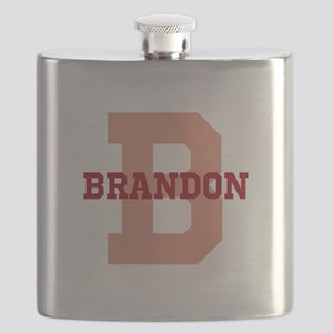 CUSTOM Initial and Name Red Flask