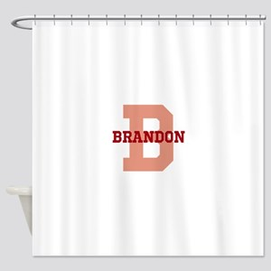 CUSTOM Initial and Name Red Shower Curtain