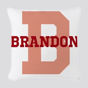 CUSTOM Initial and Name Red Woven Throw Pillow