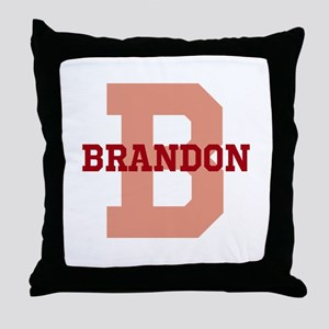 CUSTOM Initial and Name Red Throw Pillow