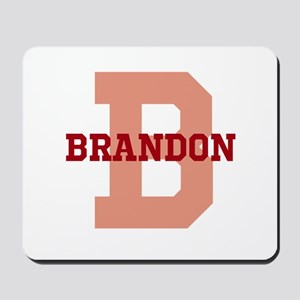 CUSTOM Initial and Name Red Mousepad