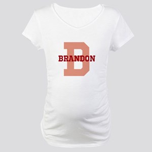 CUSTOM Initial and Name Red Maternity T-Shirt