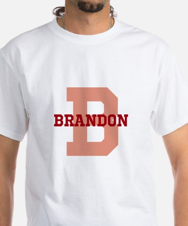 CUSTOM Initial and Name Red White T-Shirt