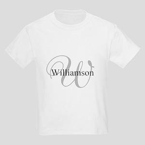 CUSTOM Initial and Name Gray/Bl Kids Light T-Shirt