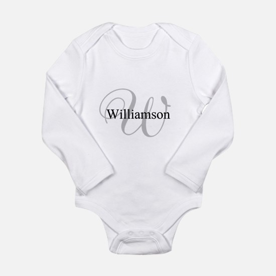 CUSTOM Initial and Nam Onesie Romper Suit