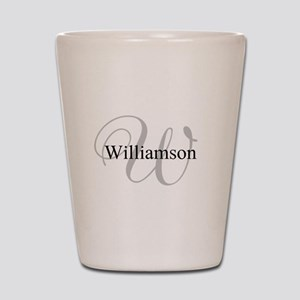 CUSTOM Initial and Name Gray/Black Shot Glass
